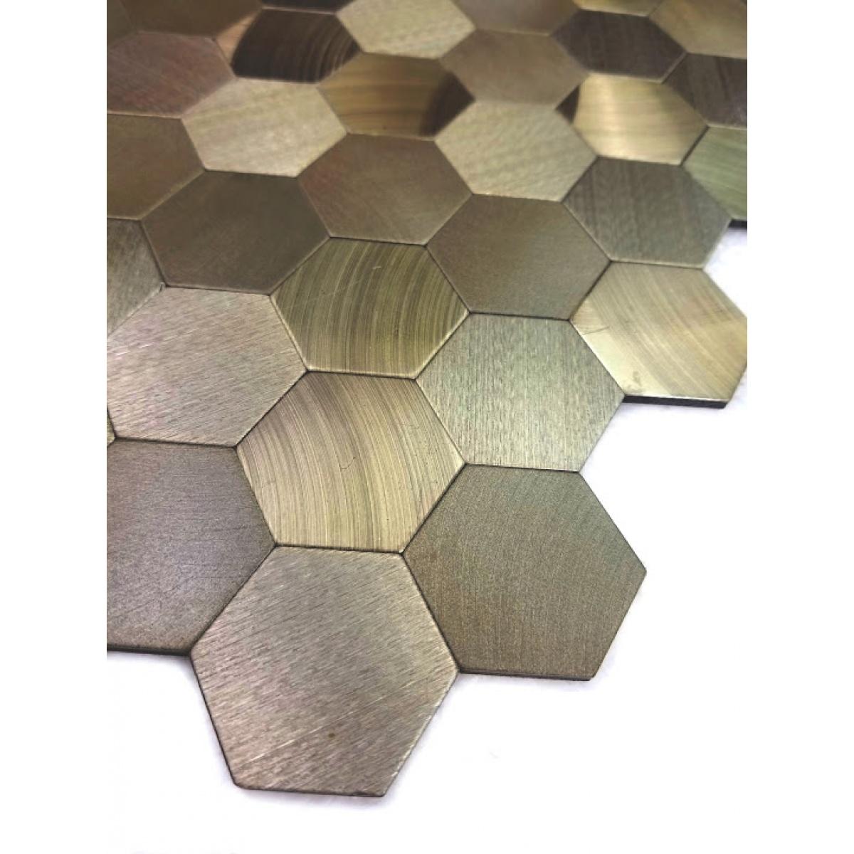 Enchanted Metals 1 3125 In X 1 3125 In Aluminum Hexagon