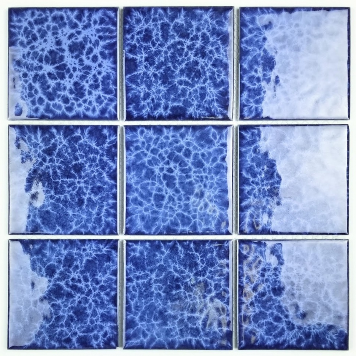 - Monet 3.7 In X 3.7 In Porcelain Pool Rated Mosaic In BLUE Glossy