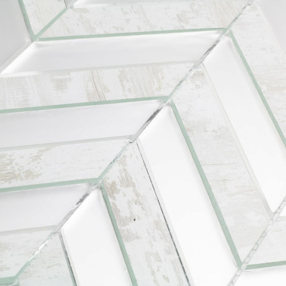 - Musico 1 In X 4 In Glass Herringbone Mosaic In BIRCHWOOD WHITE Blend