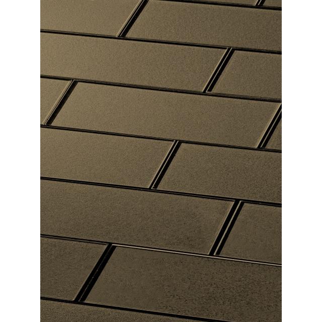 Forever 3 X 12 Glossy Bronze Gl Subway Backsplash Wall Tile