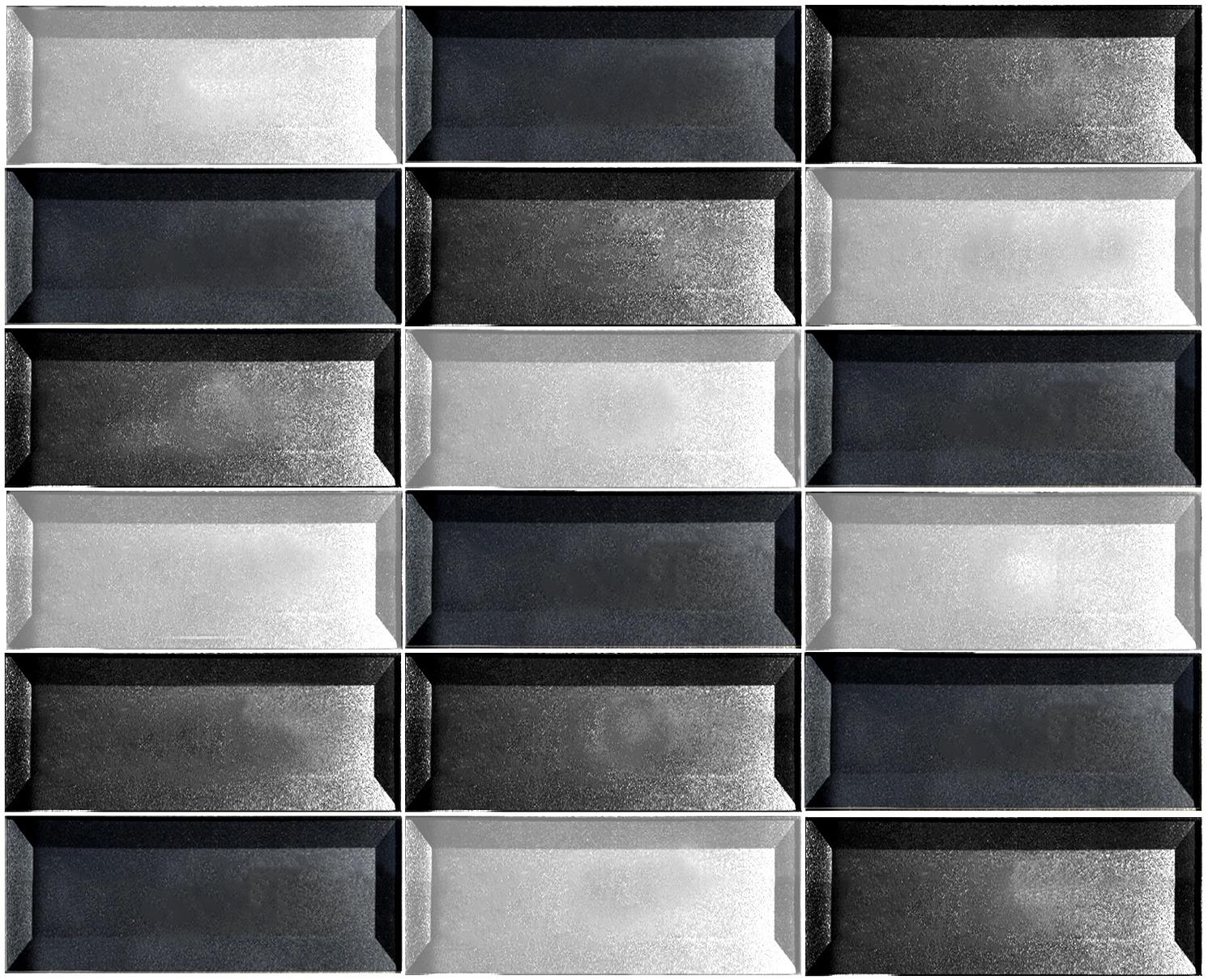 "Forever 2"" x 4"" Beveled Gray Glass Brick Backsplash Mosaic Wall Tile"