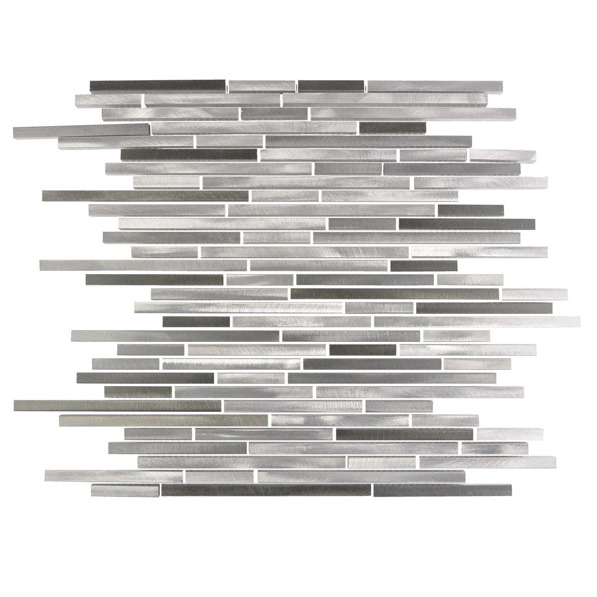 Aluminum Metal Thin Linear Mosaic