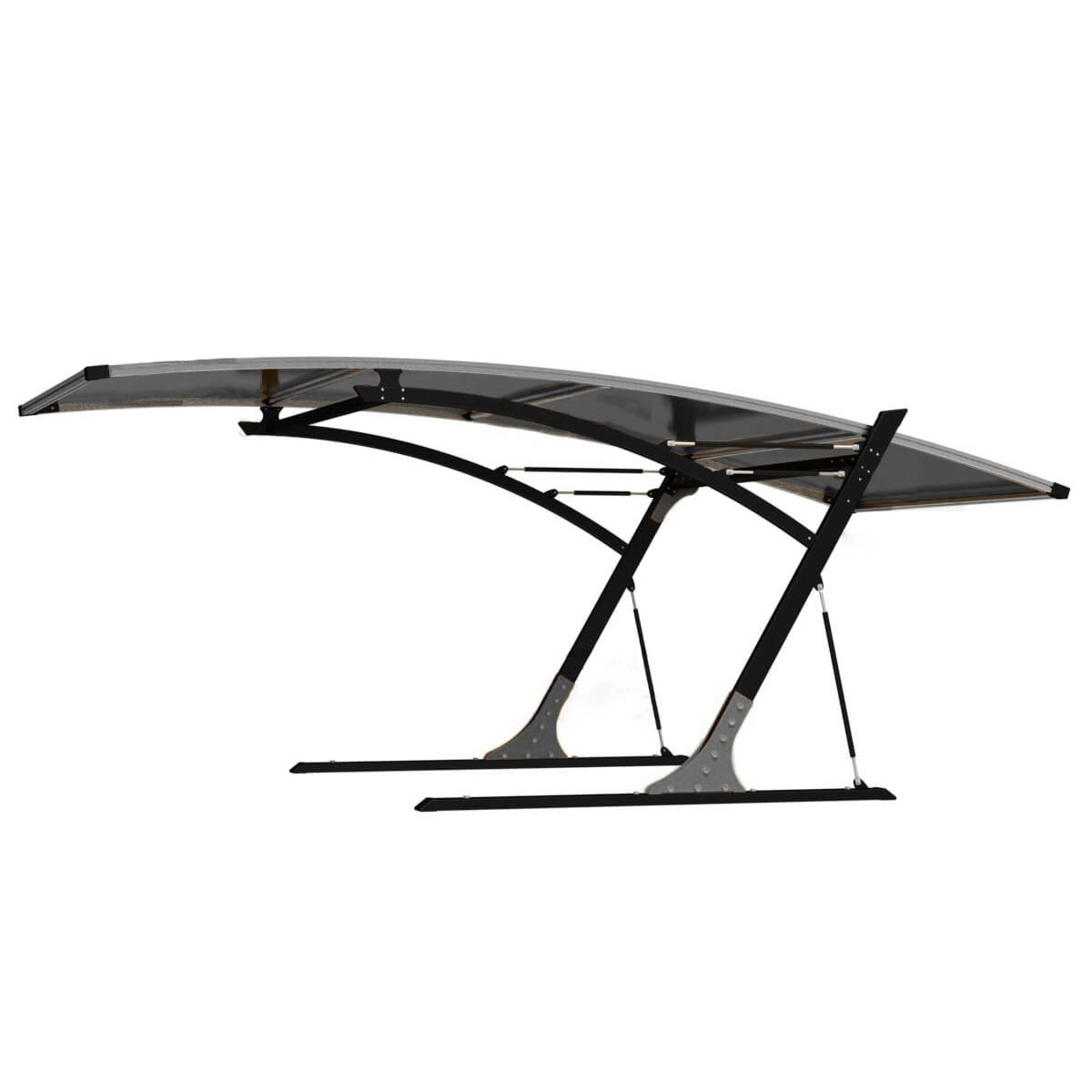 Weather Proof Single Lot Canopy Carport Shelter in Gray