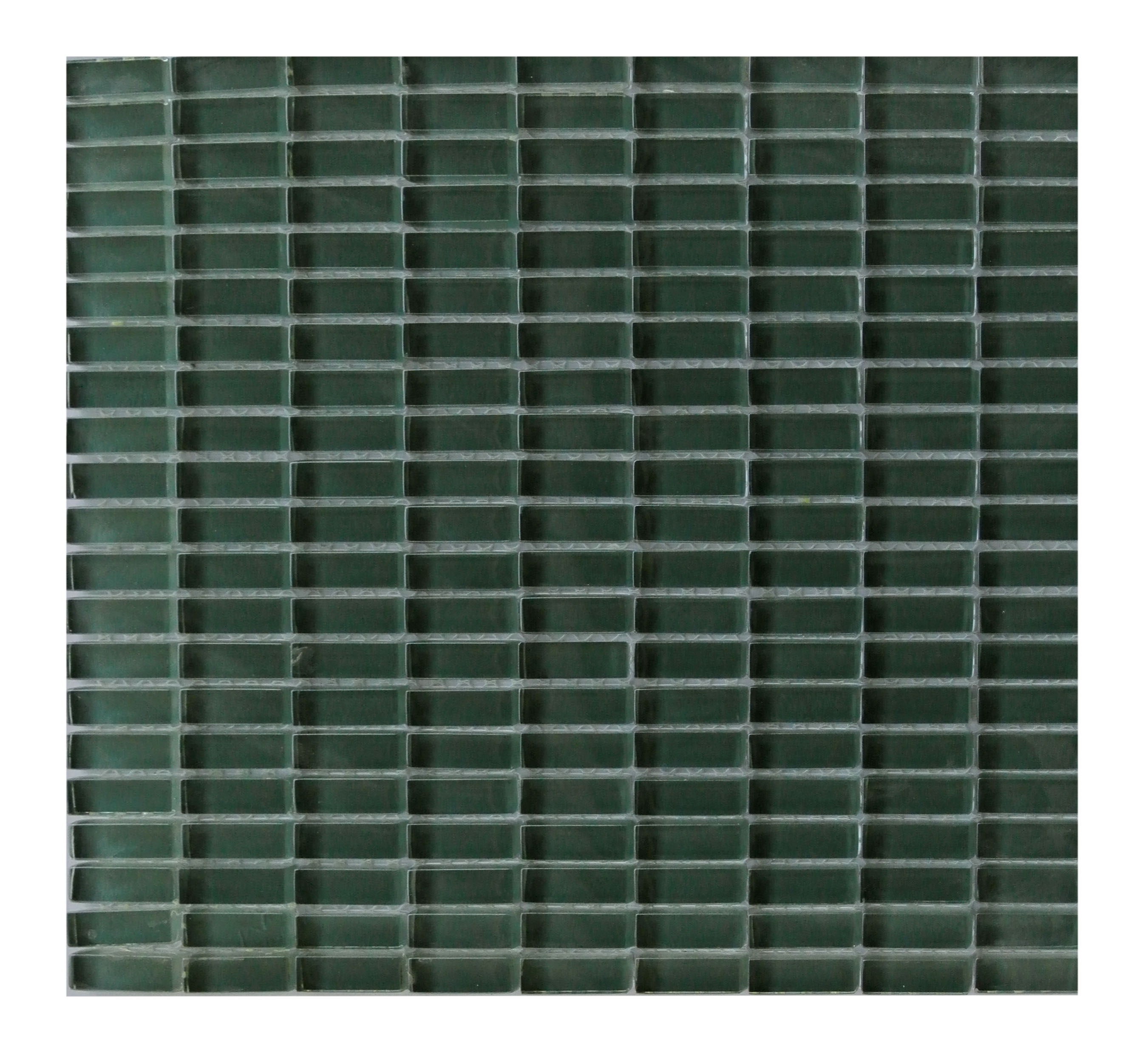 - Epiphany 0.5 In X 1.25 In Glass Rectangle Mosaic In GREEN Glossy