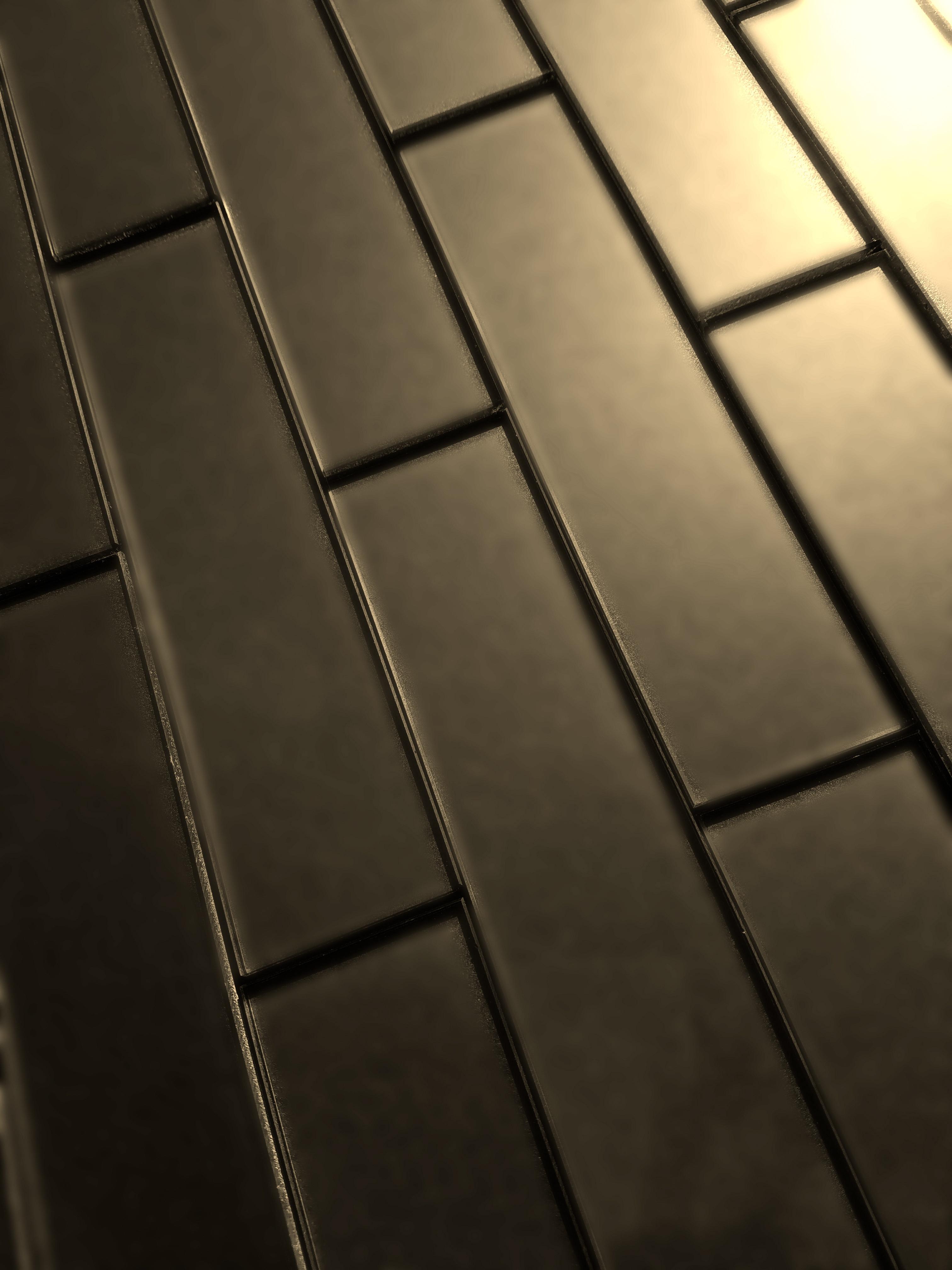 "Forever 2"" x 8"" Matte Straight Bronze Glass Loose Backsplash Wall Tile"