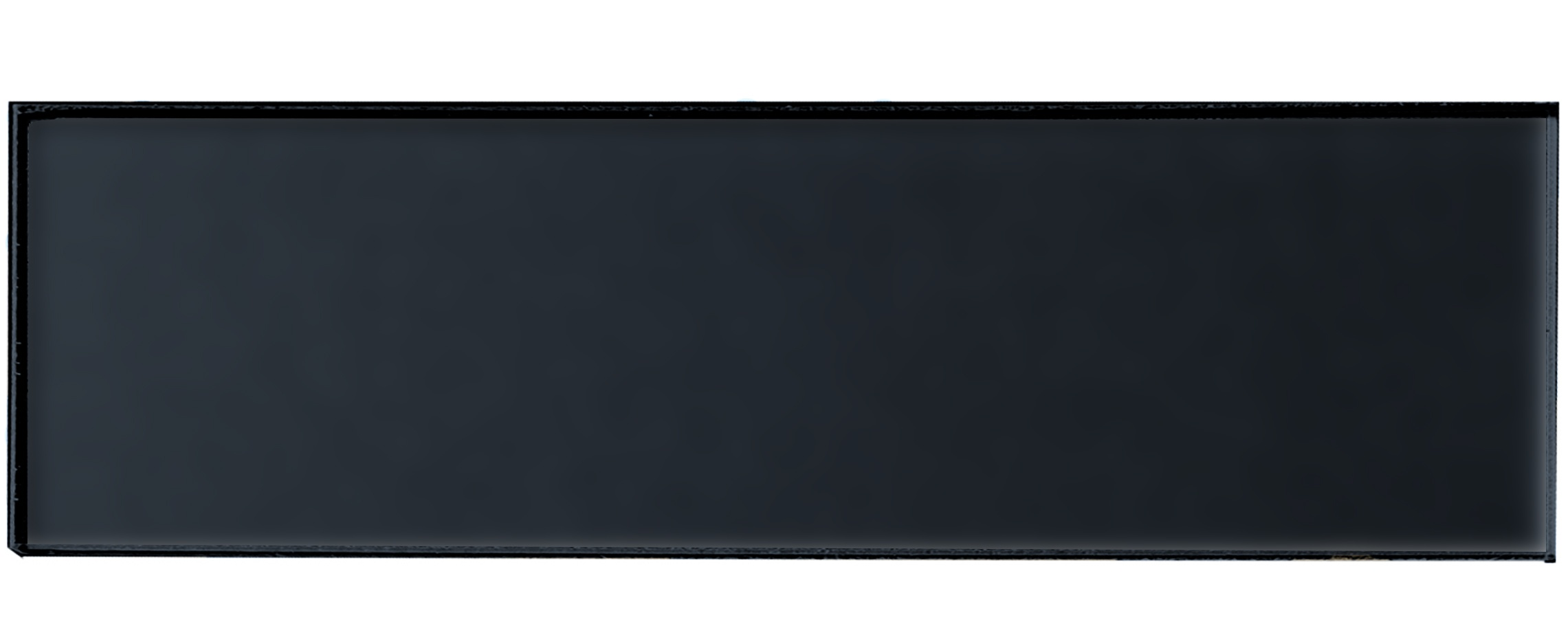 "Forever 4"" x 16"" Matte Black Glass Subway Backsplash Wall Tile"