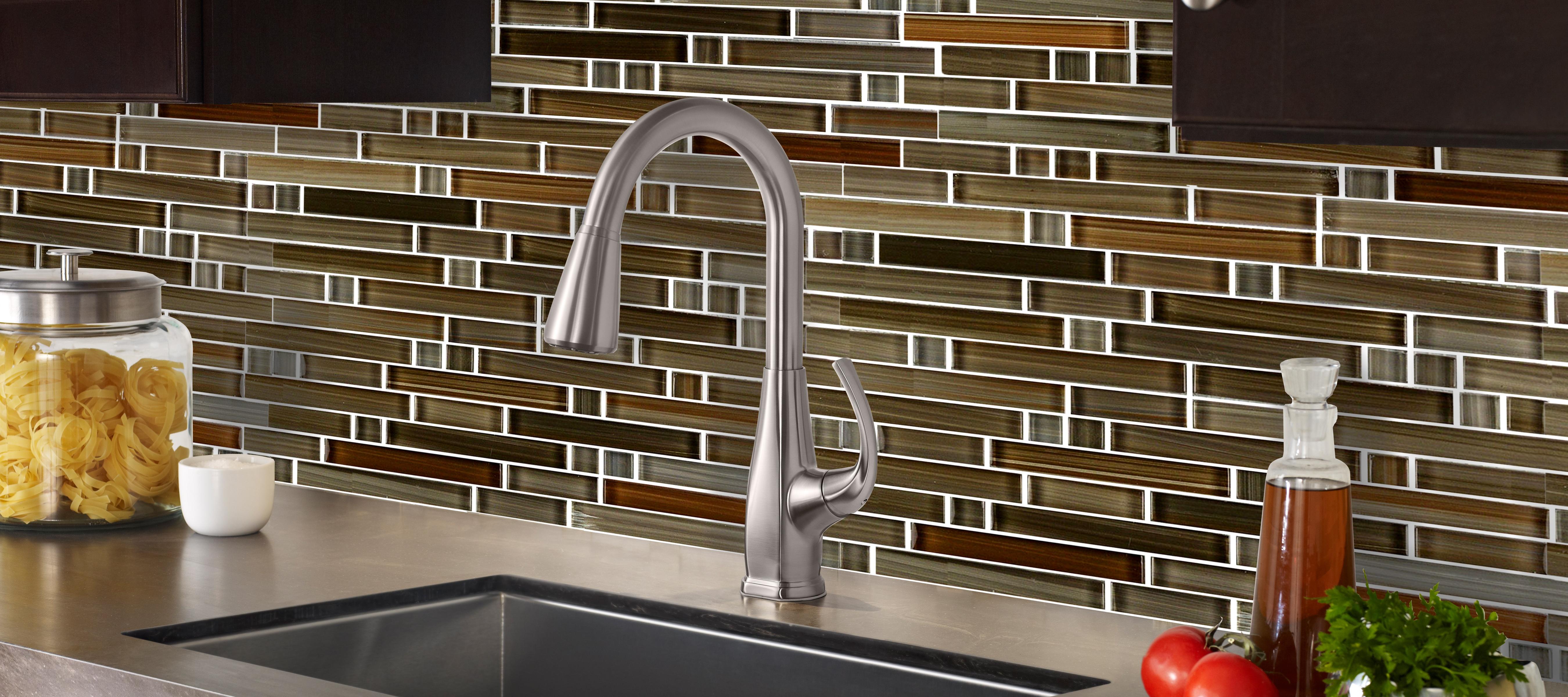 - Handicraft II 11.75 In X 11.75 In Glass Linear Mosaic In SANTA FE