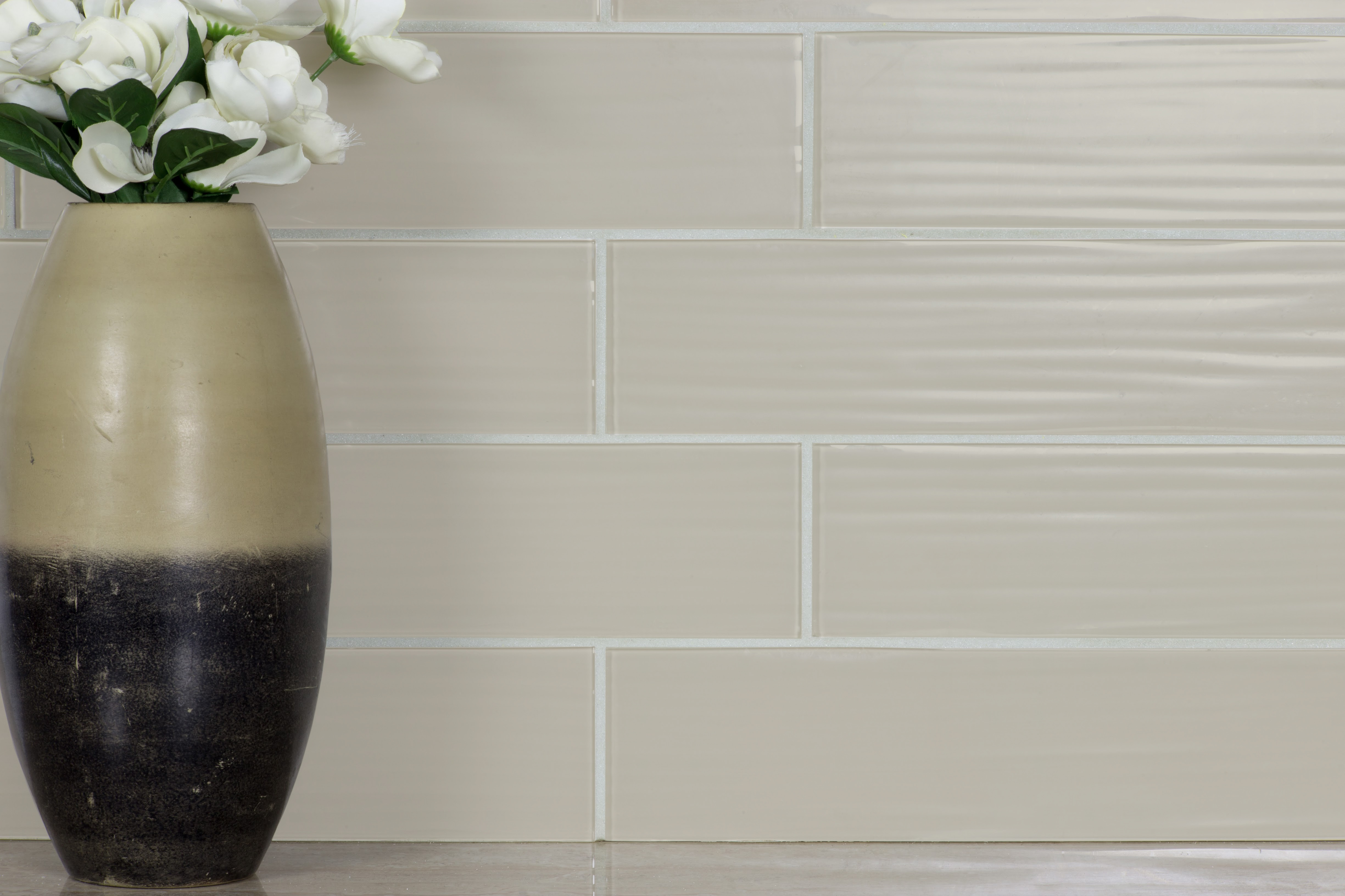 Monroe 4 X 16 Textured Beige Gl Subway Backsplash Wall Tile