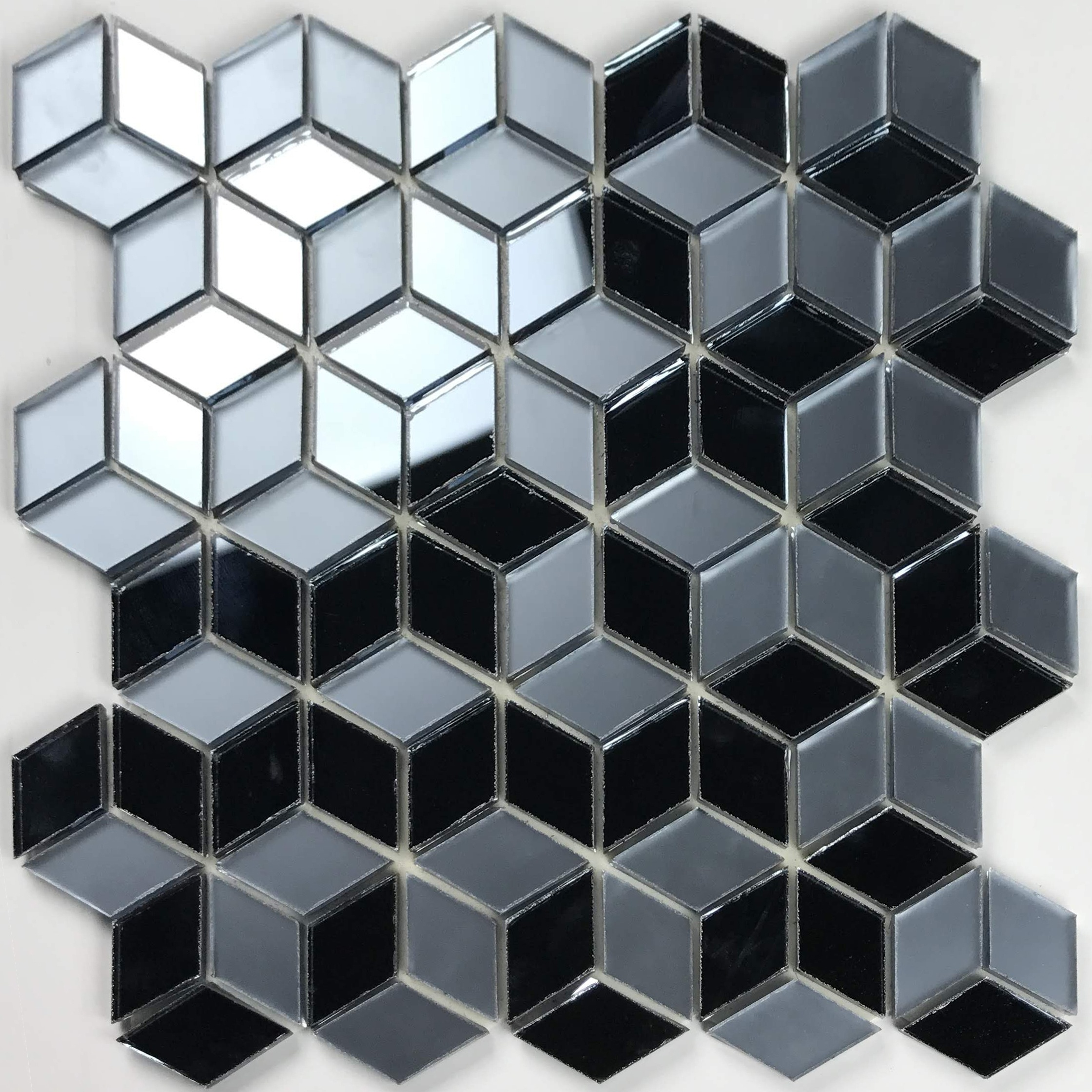 Musico 1 625 In X 1 875 In Glass Diamond Mosaic In