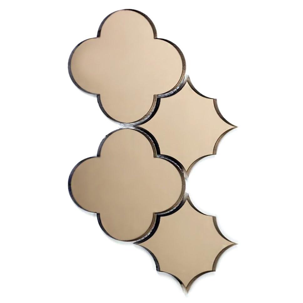"""Reflections 6"""" x 6"""" Glossy Gold Mirror Big Bang Waterjet Backsplash Mosaic Wall Tile"""