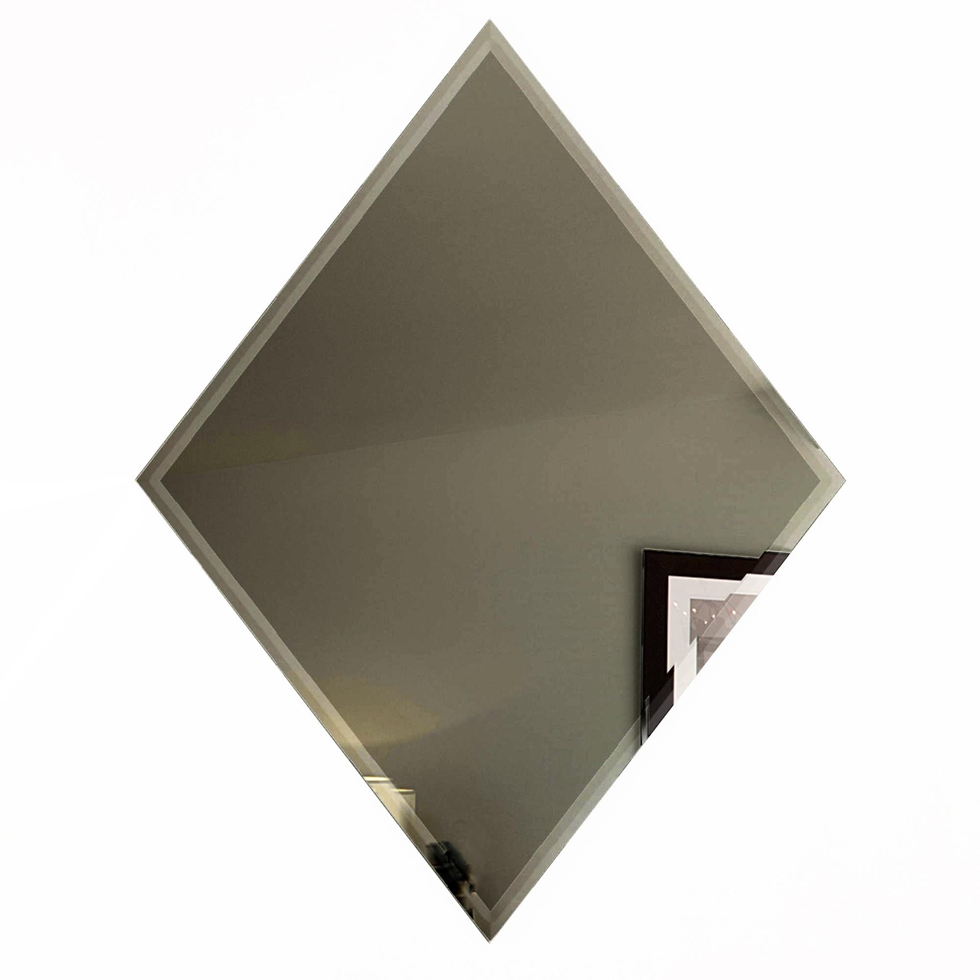 "Reflections 6"" x 8"" Glossy Gold Mirror Diamond Backsplash Wall Tile"