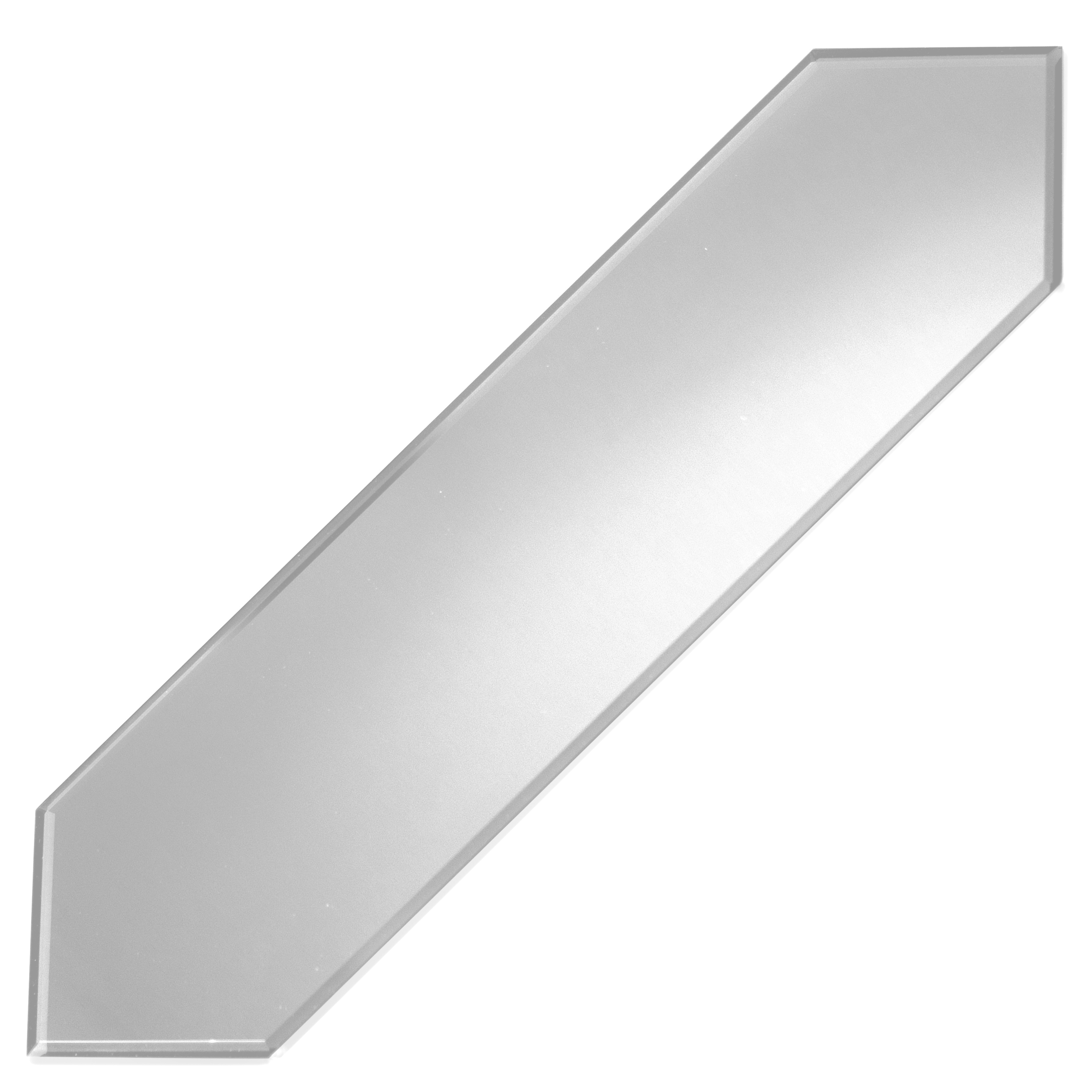Reflections 3 in x 11.875 in Mirror Picket Tile in SILVER Matte