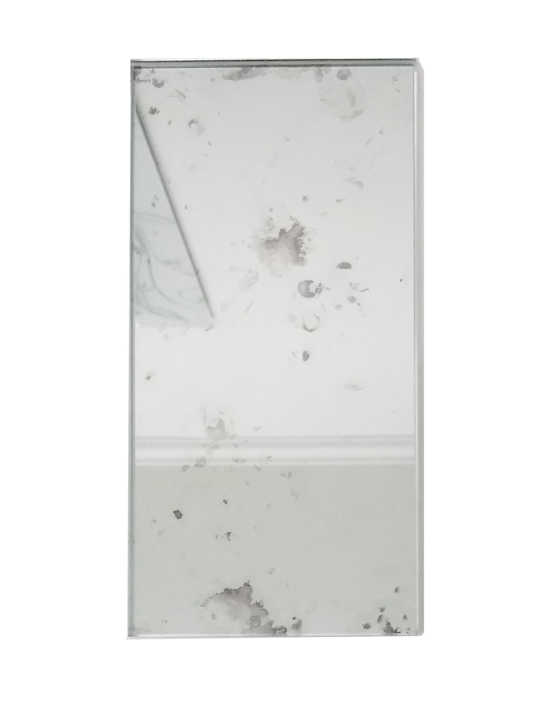 "Reflections 3"" x 6"" Glossy Silver Mirror Subway Backsplash Wall Tile"