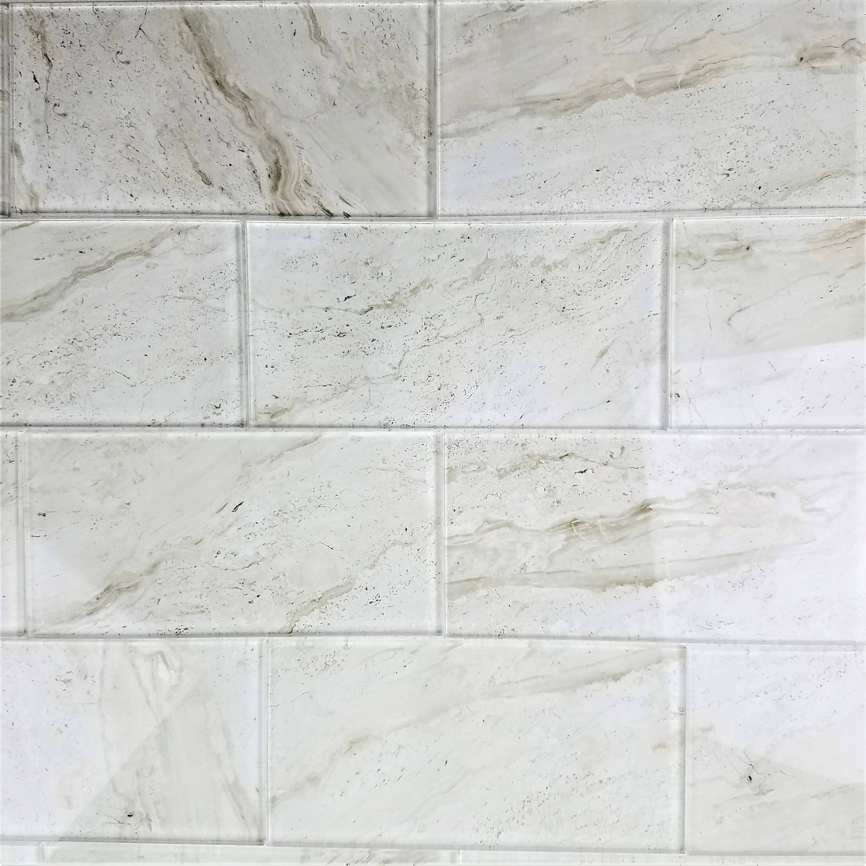 Nature 4 In X 8 In Glass Subway Tile In Crema Marfil Glossy