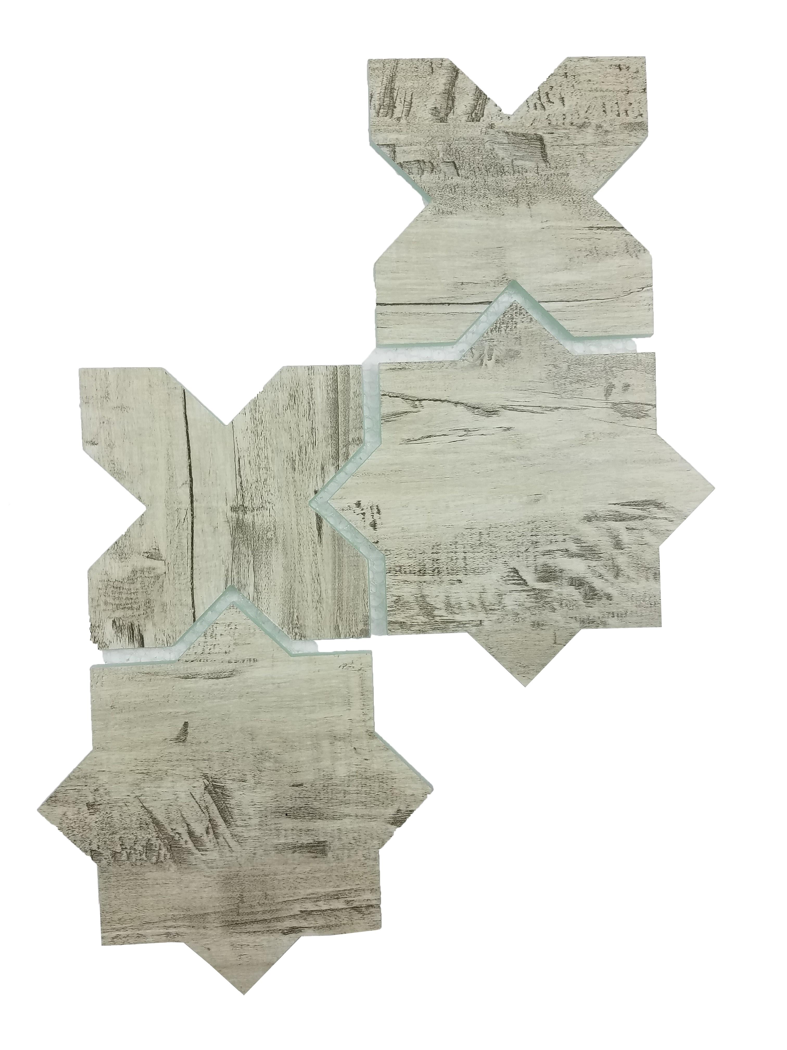 "Nature 6"" x 6"" Matte Blue Glass Celestial Waterjet Backsplash Mosaic Wall Tile"